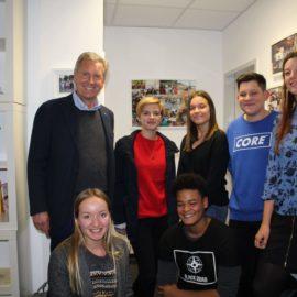 Die Schülervertretung des ELSA im Dialog mit Christian Wulff