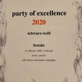 "Vorfreude auf die ""party of excellence"""